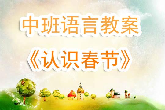 幼儿园中班语言教案《认识春节》